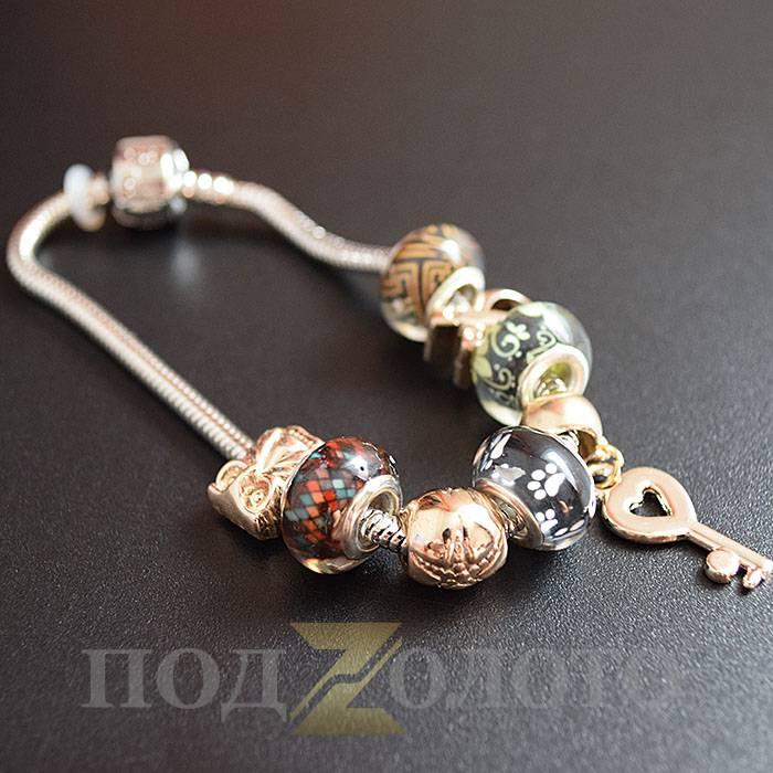 золотой браслет пандора цена и фото